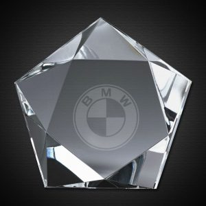 Five Sided Optical Crystal Paperweight Office Desktop Gifts