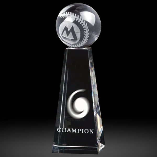 Optical Crystal Baseball Tower Trophy Awards