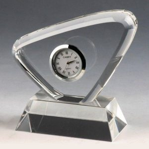 Personalized Crystal Desk Clock Corporate Gift Award