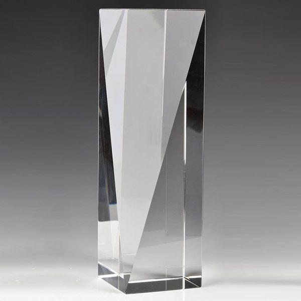 Pillar Crystal Award Clear Crystal Column Trophy