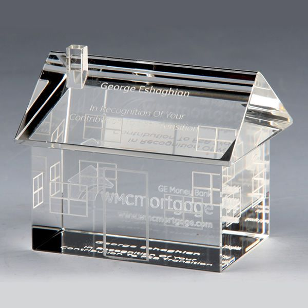 Crystal House Award Optical Crystal Home Trophy Award