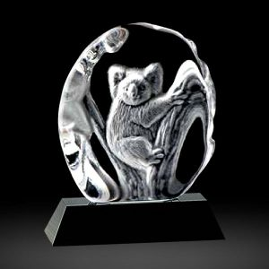 Crystal Koala Animal Award 3D Laser Engraved Crystal Iceberg Koala Award