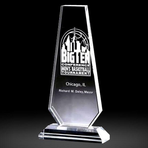 Personalized Crystal Obelisk Tower Trophy Award