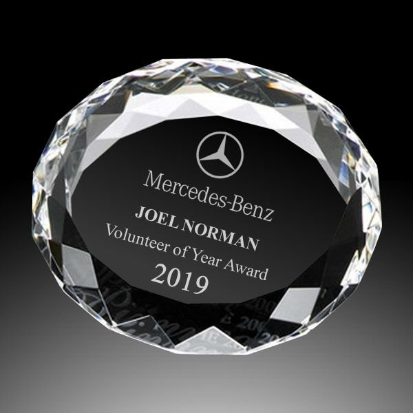 Multifaceted Crystal Paperweight Corporate Gifts