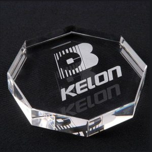 Optical Crystal Octagon Paperweight Corporate Gift Awards