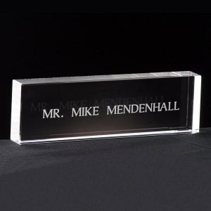 Personalized Crystal Name Plates