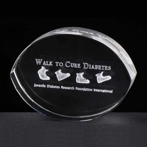 Personalized Crystal Oval Paperweight Corporate Gift Awards