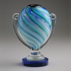 Blown Art Glass Loving Trophy Cup Award