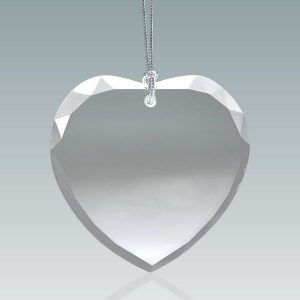 Faceted Crystal Heart Ornaments