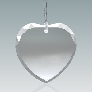 heart shaped crystal ornaments