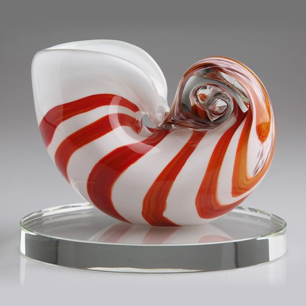 Murano Glass Seashell Sculpture Blown Glass Conch Shell Award