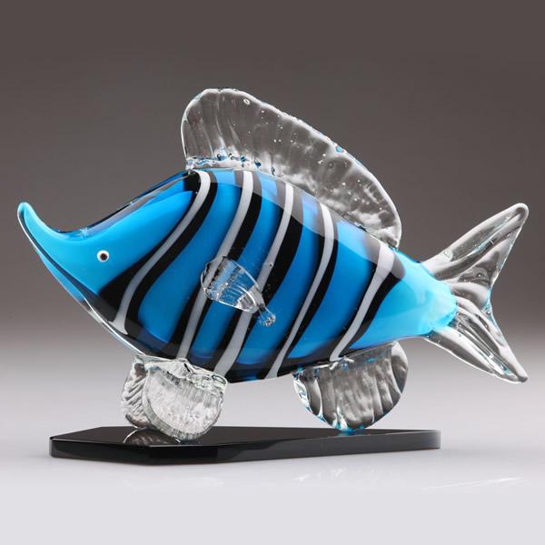 Art Glass Fish Sculpture Murano Glass Fish Figurine