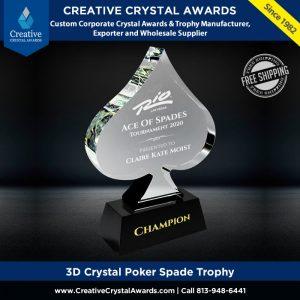 Crystal poker trophy casino crystal poker spade trophy poker tournament award