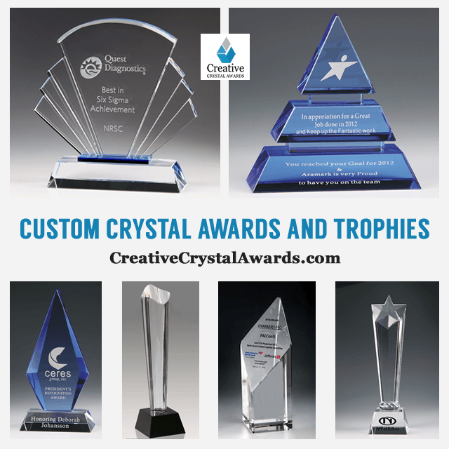 Corporate Crystal Awards Engraved Crystal Trophies