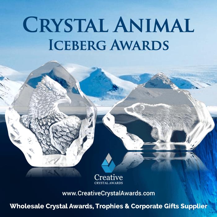 Crystal Iceberg Animal Trophy Awards
