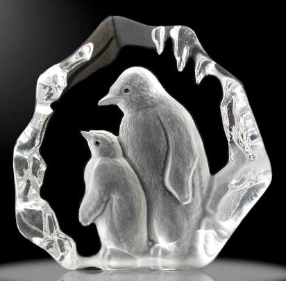 3D Crystal Iceberg Penguin Award
