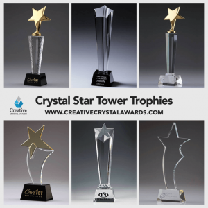 Crystal Star Tower Trophies Wholesale