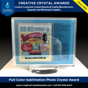 Full-Color Sublimation Photo Crystal Award