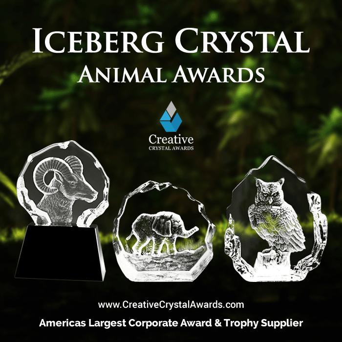 Iceberg Crystal Animal Awards Wholesale