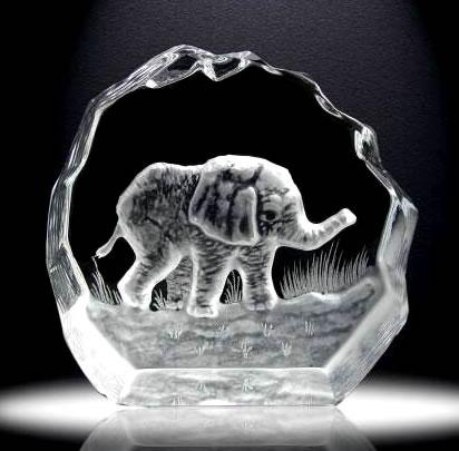 3D Crystal Iceberg Elephant Award