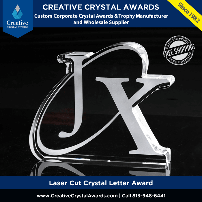 Laser Cut Crystal Letter Awards