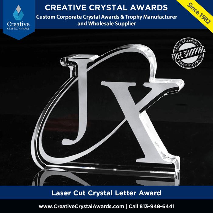 Laser Cut Crystal Letter Awards