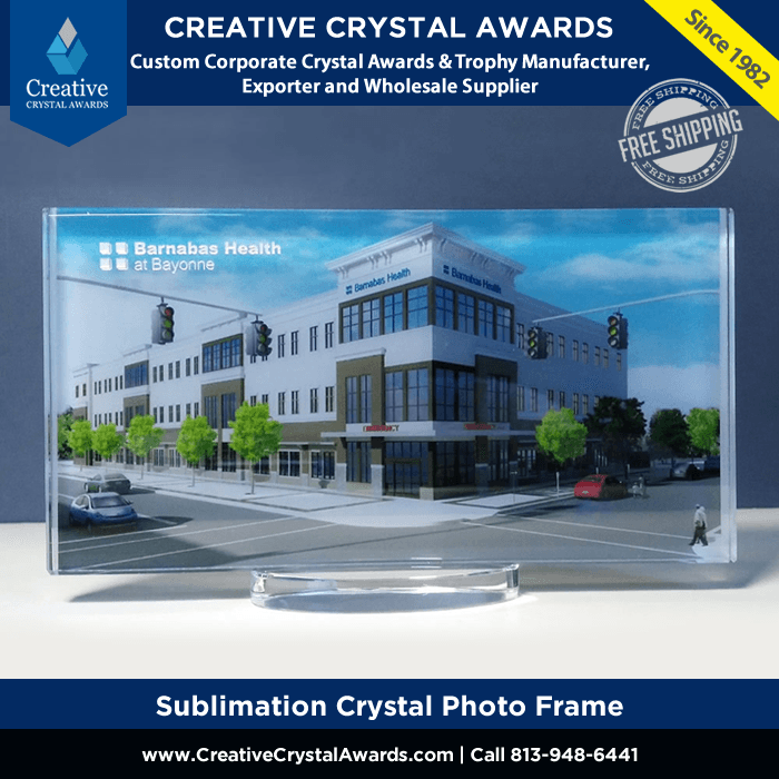 Sublimation Crystal Photo Frame Award