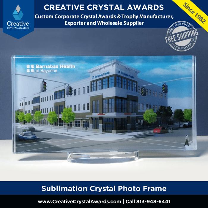 Sublimation Crystal Photo Frame Award
