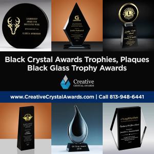 black crystal awards black crystal plaques black crystal trophy awards