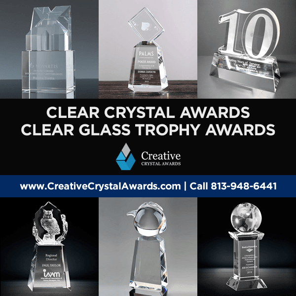 clear crystal awards clear glass awards clear optical crystal trophy awards wholesale