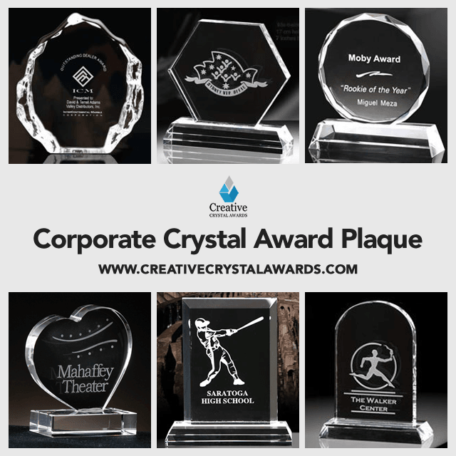 Wholesale Corporate Crystal Plaque Awards