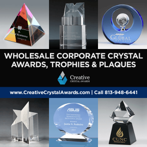 corporate crystal award trophies plaques wholesale supplier