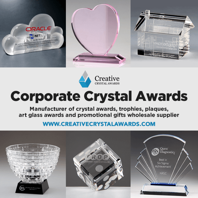corporate crystal awards wholesale