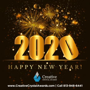 creative crystal awards USA new year greetings