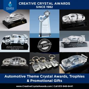 crystal automotive award trophies gifts