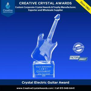 crystal guitar award custom crystal electric guitar music award
