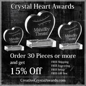Wholesale Crystal Heart Awards