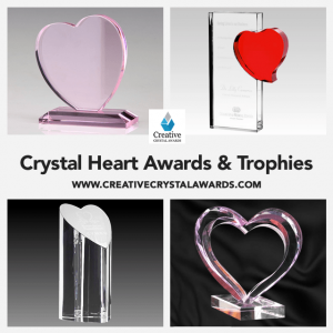 Crystal Heart Awards Personalized Crystal Heart Trophies