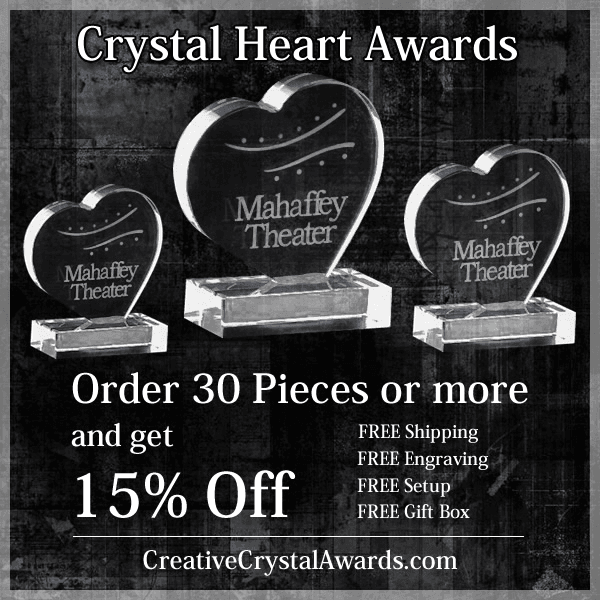 Wholesale Crystal Heart Awards