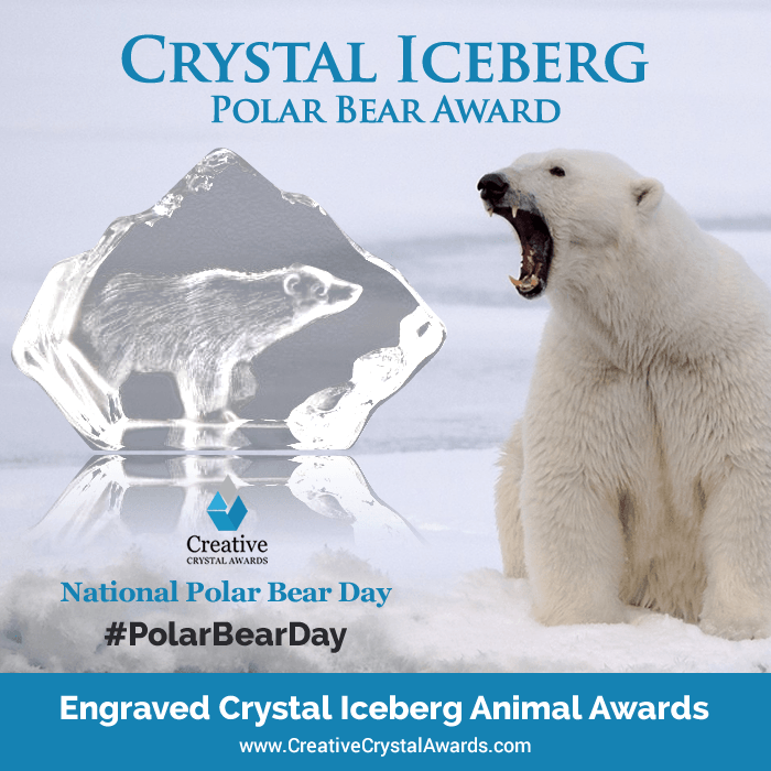 crystal iceberg polar bear award