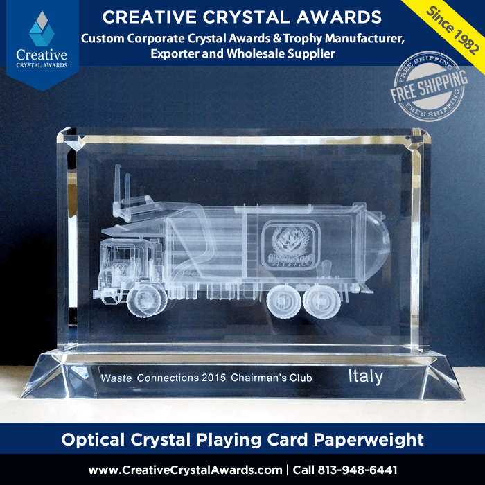 crystal garbage truck award