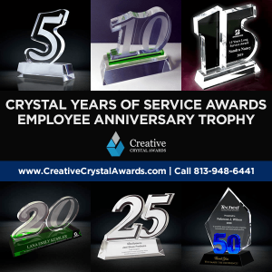 crystal years of service award employee service awards wholesale