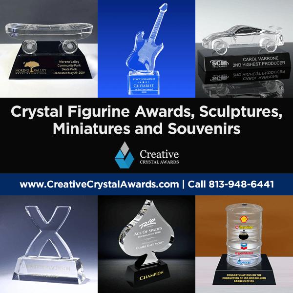 custom crystal figurine awards crystal sculpture trophies wholesale