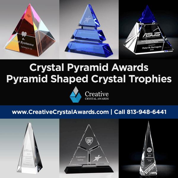 custom crystal pyramid awards crystal pyramid trophy awards