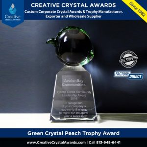 green crystal peach trophy peach fruit award