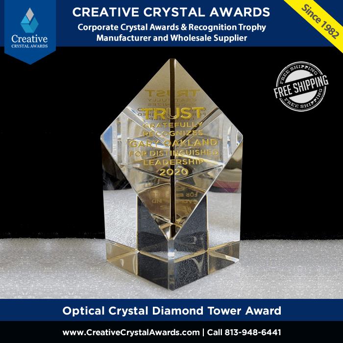 optical crystal diamond tower award