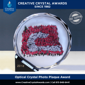 Full Color Digital Print Photo Crystal Plaque Award