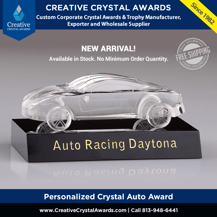 personalized crystal auto award crystal auto trophies