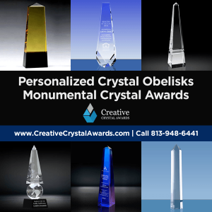 personalized crystal obelisk awards crystal tower trophies