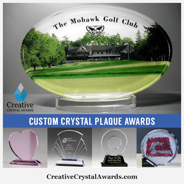 Personalized Crystal Plaque Awards